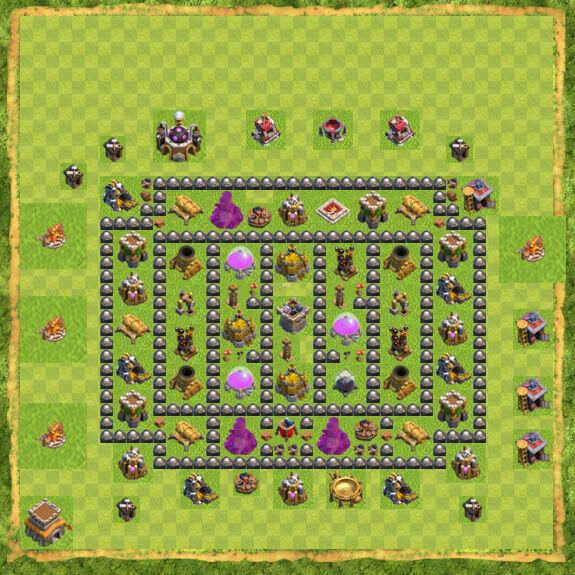 Base Farming Coc Th 8 21