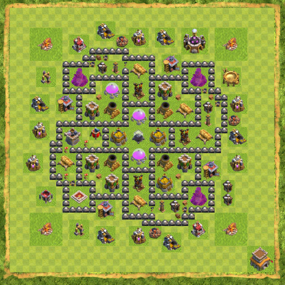 Base Farming Coc Th 8 24
