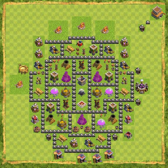 Base Farming Coc Th 8 25