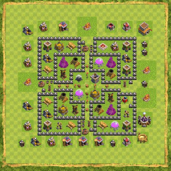 Base Farming Coc Th 8 26