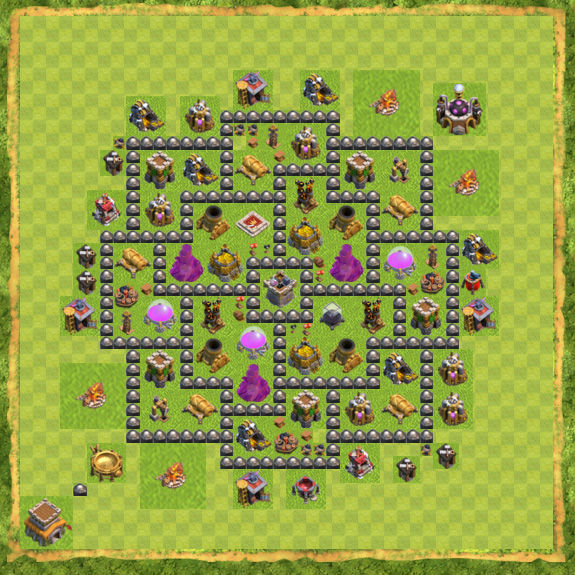 Base Farming Coc Th 8 27
