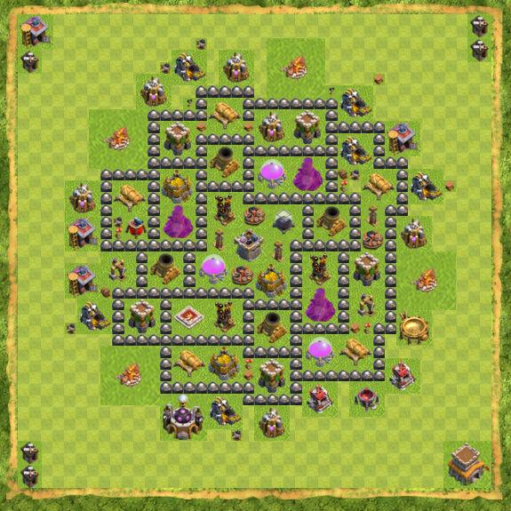 Base Farming Coc Th 8 28