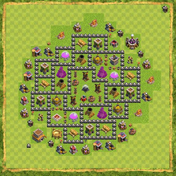 Base Farming Coc Th 8 3