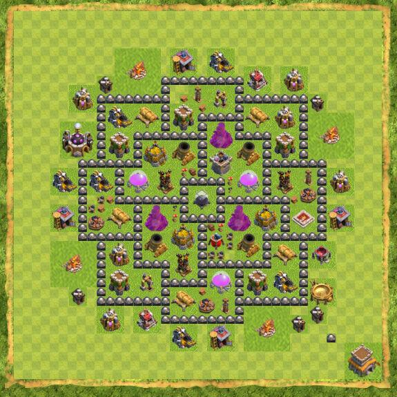 Base Farming Coc Th 8 30