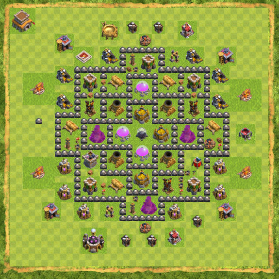 Base Farming Coc Th 8 31