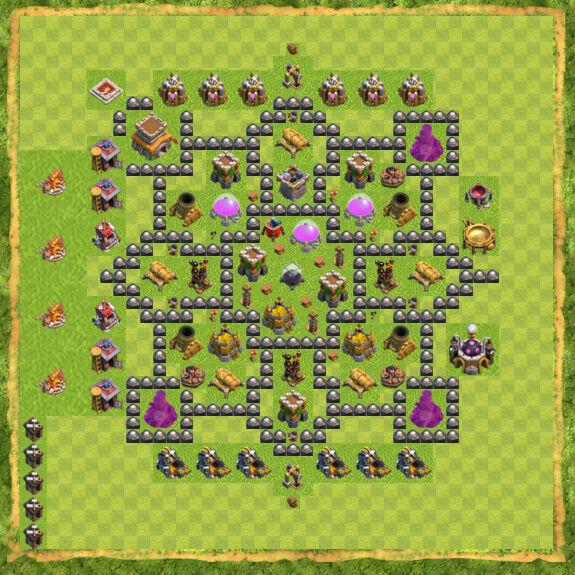 Base Farming Coc Th 8 32