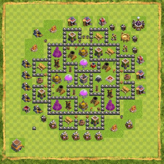 Base Farming Coc Th 8 34