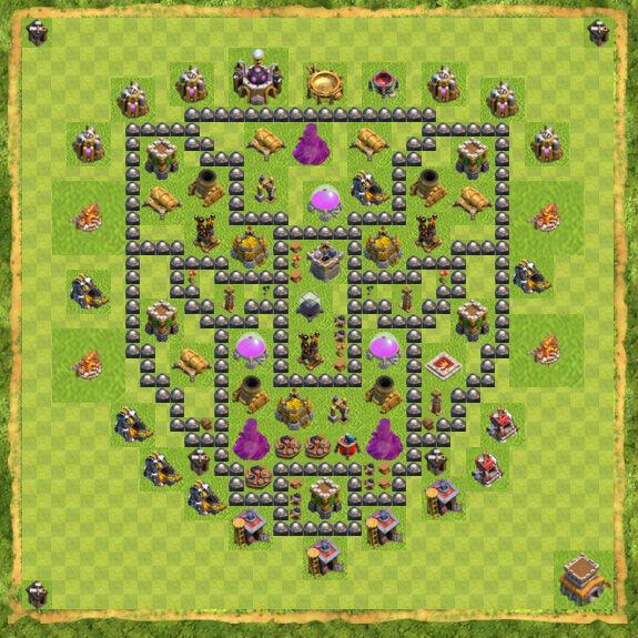 Base Farming Coc Th 8 35