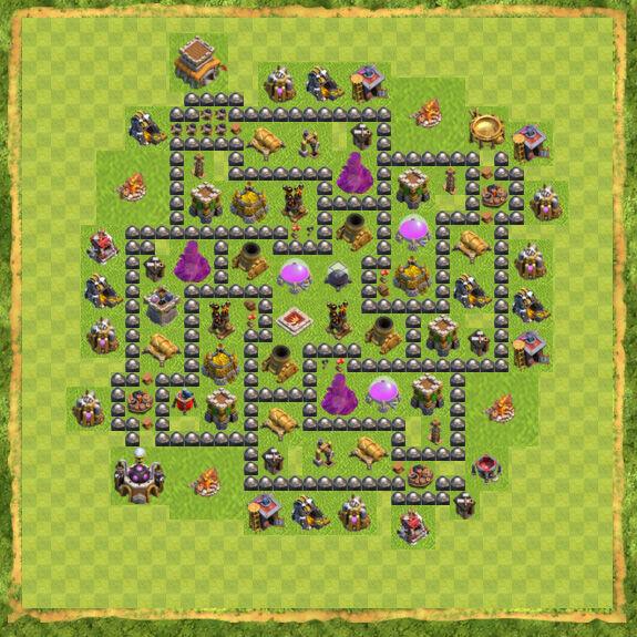 Base Farming Coc Th 8 37
