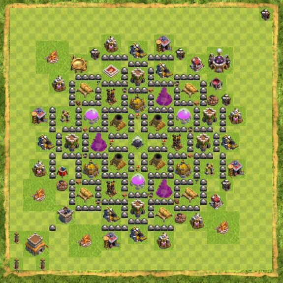 Base Farming Coc Th 8 39