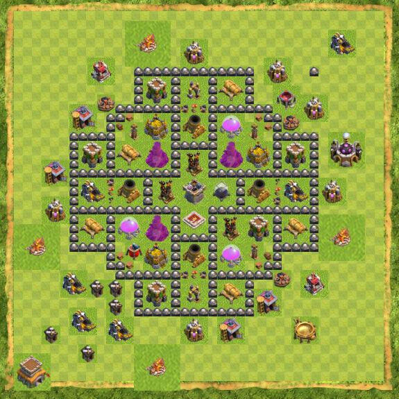 Base Farming Coc Th 8 4