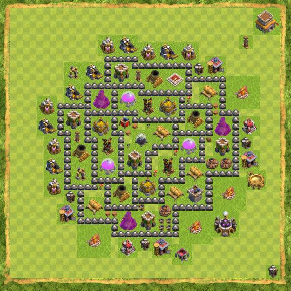 Base Farming Coc Th 8 40