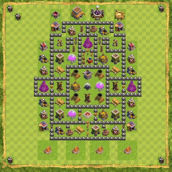 Base Farming Coc Th 8 42