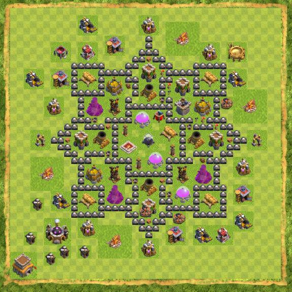 Base Farming Coc Th 8 43