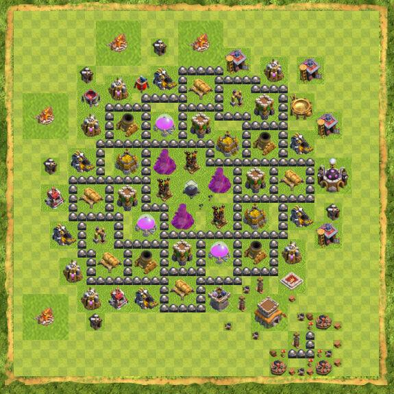 Base Farming Coc Th 8 44