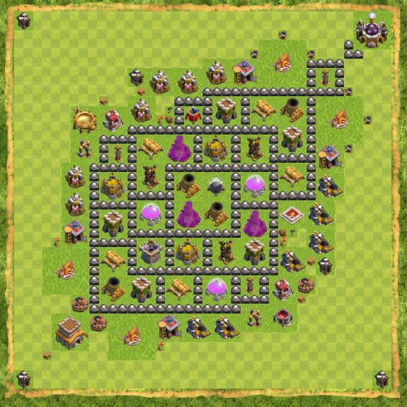 Base Farming Coc Th 8 45