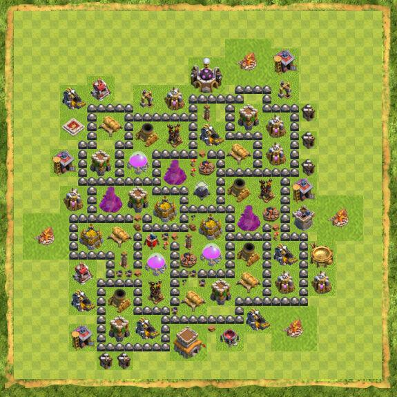 Base Farming Coc Th 8 46
