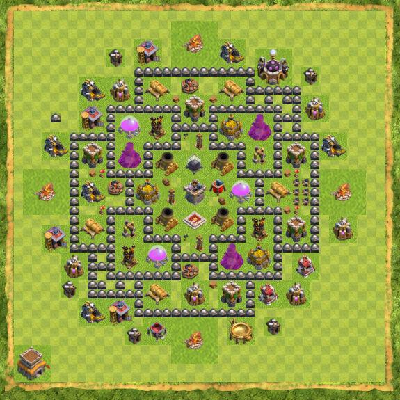Base Farming Coc Th 8 47