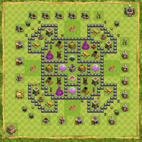 Base Farming Coc Th 8 5