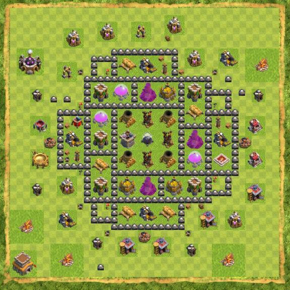 Base Farming Coc Th 8 50
