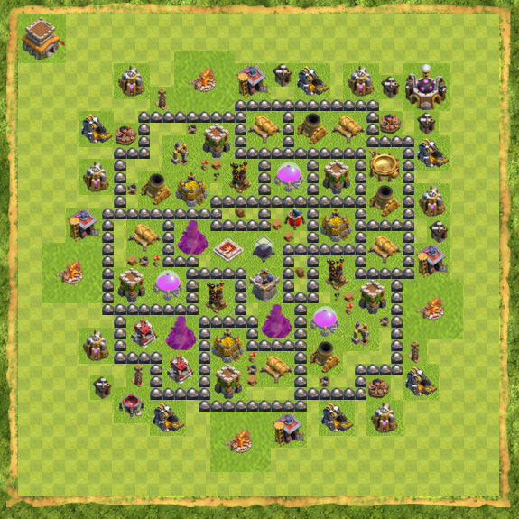 Base Farming Coc Th 8 51