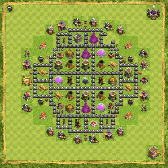 Base Farming Coc Th 8 52