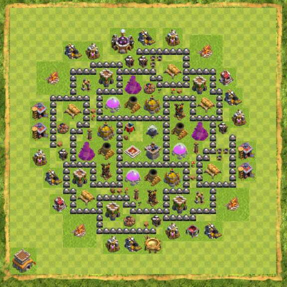 Base Farming Coc Th 8 53
