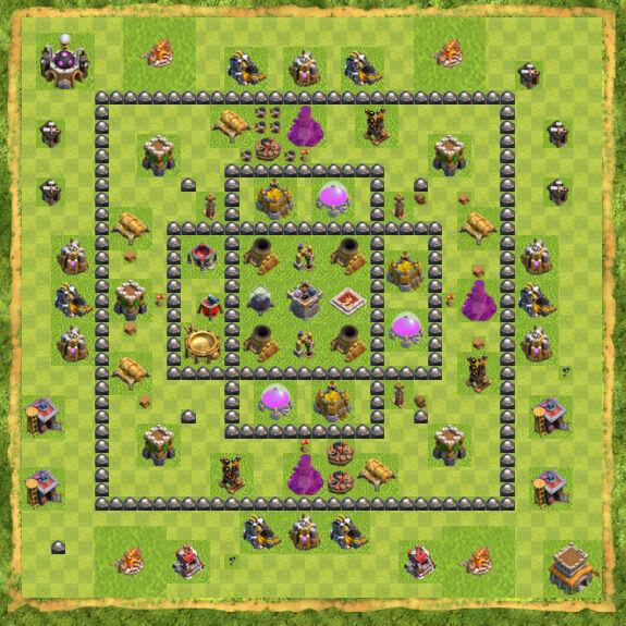 Base Farming Coc Th 8 54