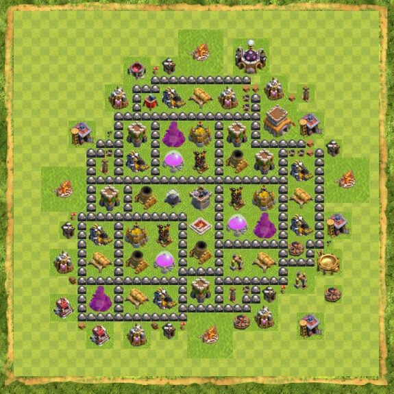 Base Farming Coc Th 8 55