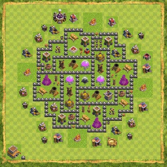 Base Farming Coc Th 8 6