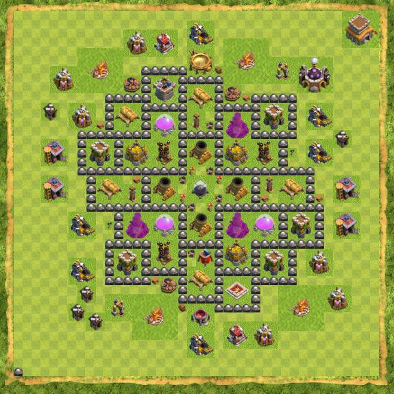 Base Farming Coc Th 8 7
