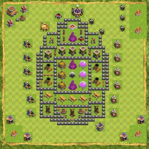 Base Farming Coc Th 8 8