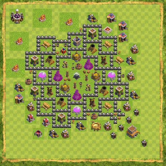 Base Farming Coc Th 8 9