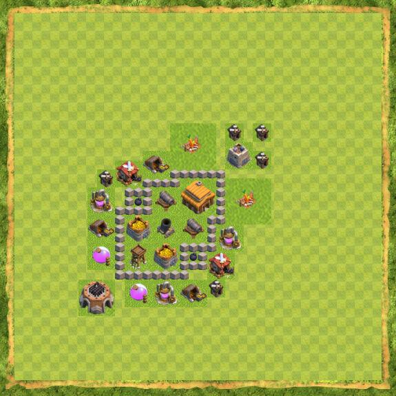 Base War Coc Th 3 10