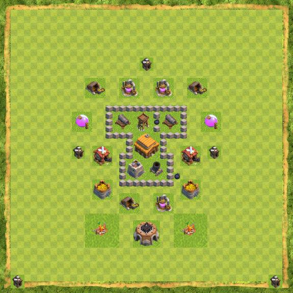 Base War Coc Th 3 12