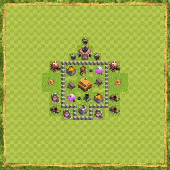 Base War Coc Th 3 14