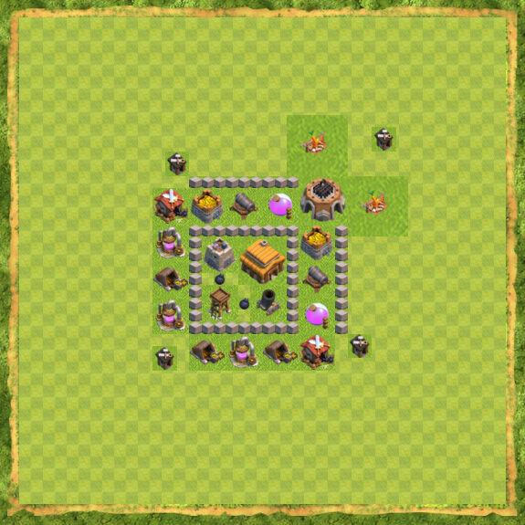 Base War Coc Th 3 15