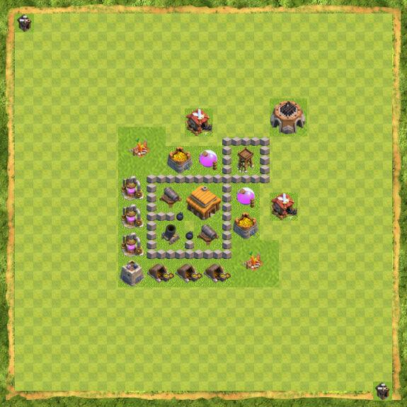 Base War Coc Th 3 16