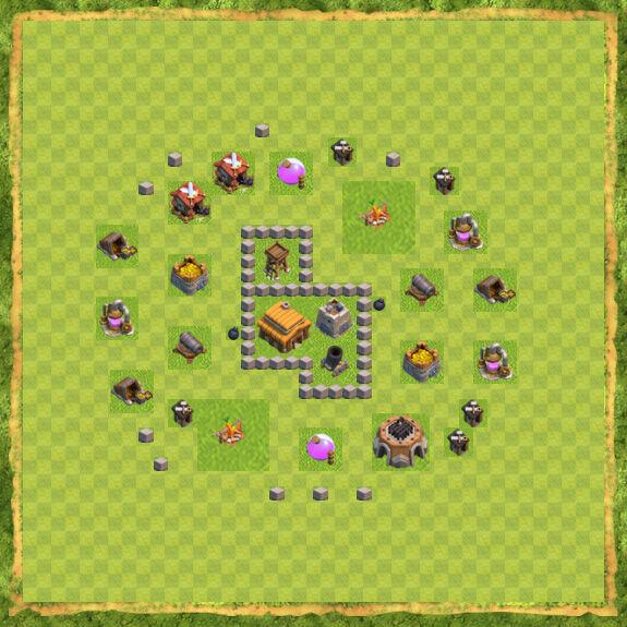 Base War Coc Th 3 18