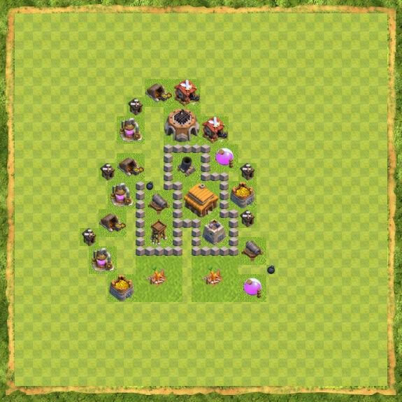 Base War Coc Th 3 19
