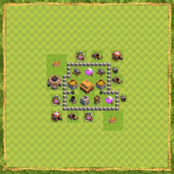 Base War Coc Th 3 2
