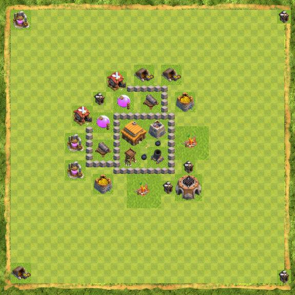 Base War Coc Th 3 21