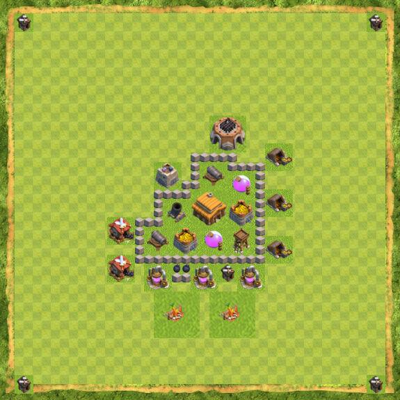 Base War Coc Th 3 23