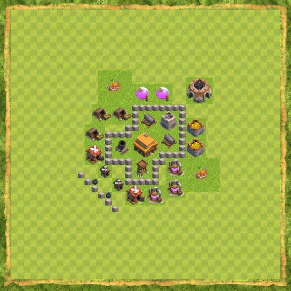 Base War Coc Th 3 24