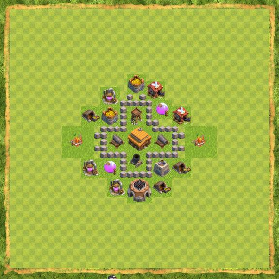 Base War Coc Th 3 26