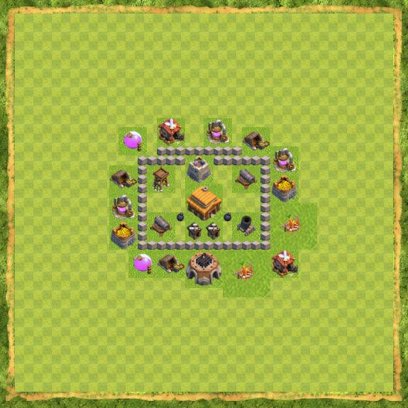 Base War Coc Th 3 3