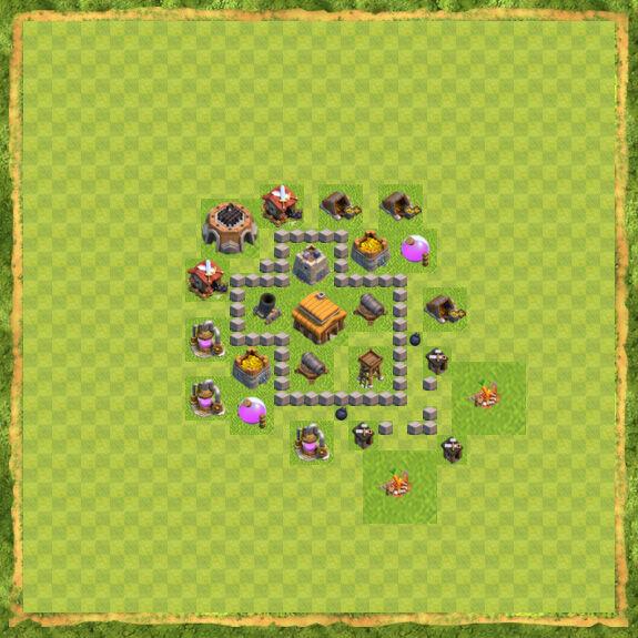 Base War Coc Th 3 4