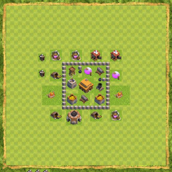 Base War Coc Th 3 5