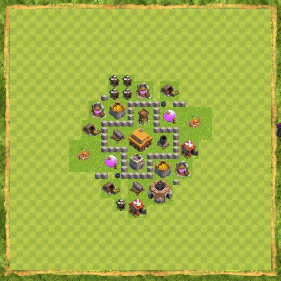Base War Coc Th 3 8