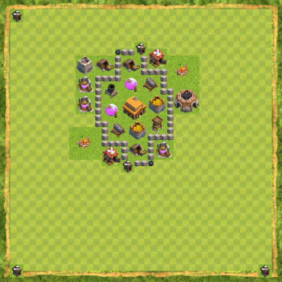 Base War Coc Th 3 9